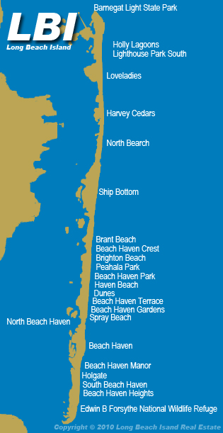 Map Of Long Beach Island Long Beach Island Real Estate